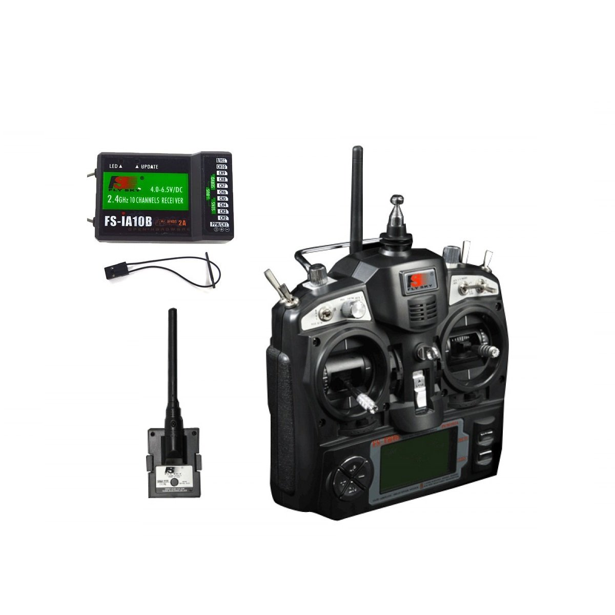 FS-TH9X 2 4GHz 9CH Upgrade Transmitter with FS-IA10B Receiver - Robu in |  Indian Online Store | RC Hobby | Robotics