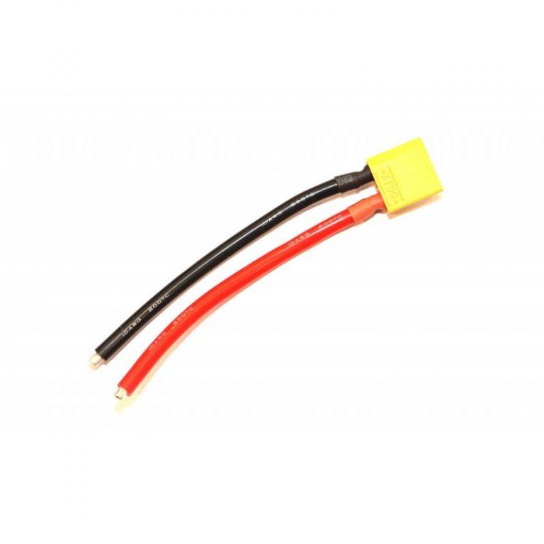 SafeConnect XT90 Plug Male 10AWG 10cm Connector (1pcs/bag)