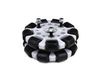 EasyMech Gray 100mm Double Glass Fiber Omni Wheel (BUSH TYPE ROLLER) High Quality