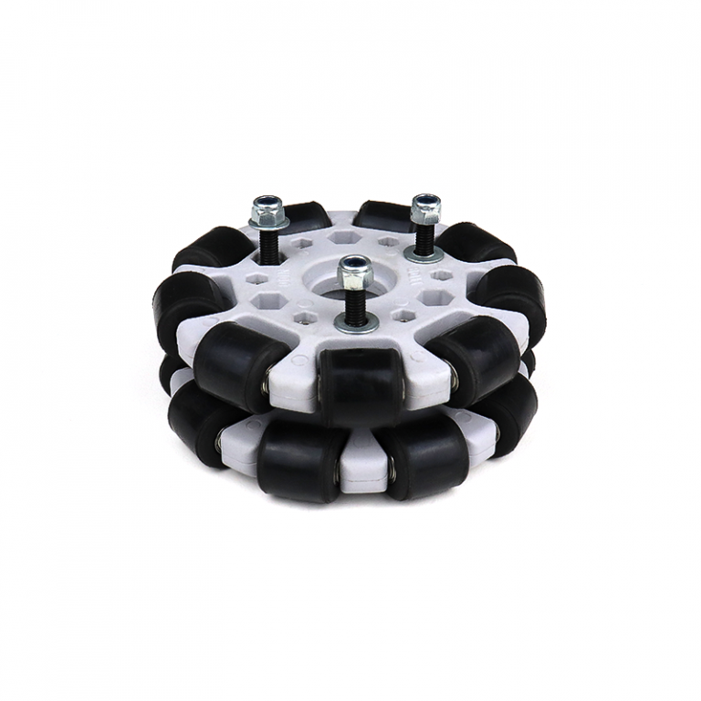 EasyMech Grey 100mm Double Glass Fiber Omni Wheel (BEARING TYPE ROLLER) High Quality