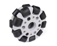 EasyMech Gray 100mm Double Glass Fiber Omni Wheel (BUSH TYPE ROLLER) High Quality