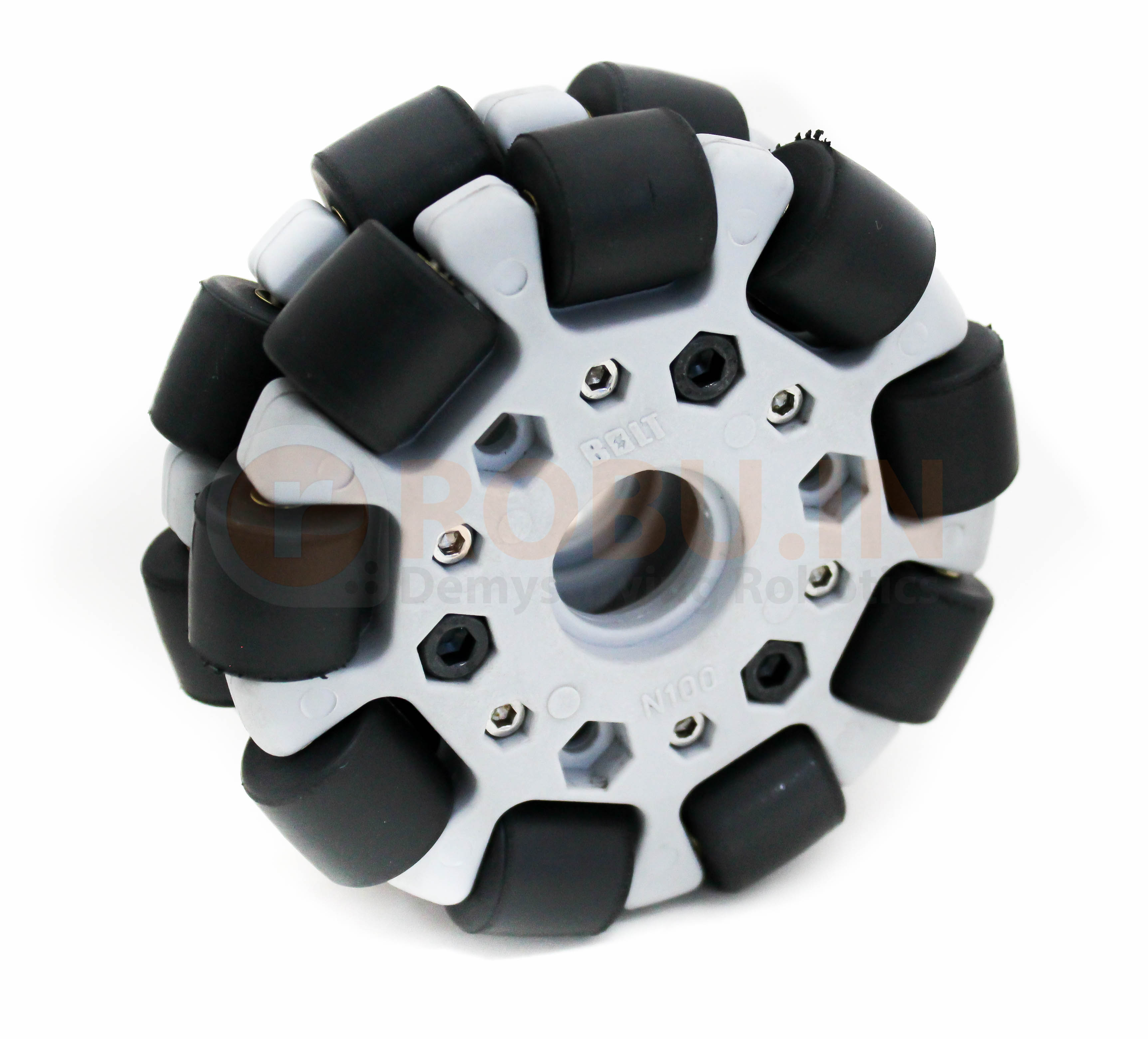 EasyMech 100mm Double Glass Fiber Omni Wheel with bearing rollers Grey High Quality