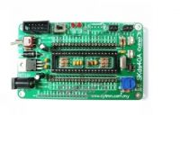 ICSP connector for UIC00A B-simple and fast method to load program. Operating voltage 5VDC. Input voltage 7 to 15VDC Perfectly fit for 40 pins dsPIC (16-bit), NOT for 40-pins 8-bit PIC. 2 x programmable switch. 2 x programmable LED indicator. Changeable Crystal - default 10MHz. Existing pad for 16 x 2 characters LCD display. UART connection to interface with other controller or even computer. And all the necessities to eliminate users difficulty in using dsPIC