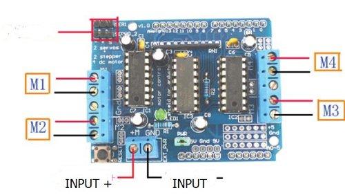 Kết quả hình ảnh cho arduino control shield l293d