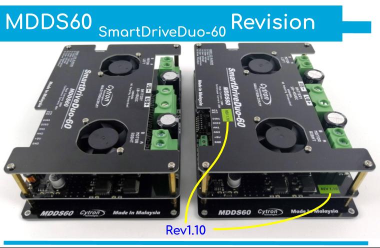 Cytron SmartDriveDuo-60 MDDS60 60A (100A peak) -- ROBU