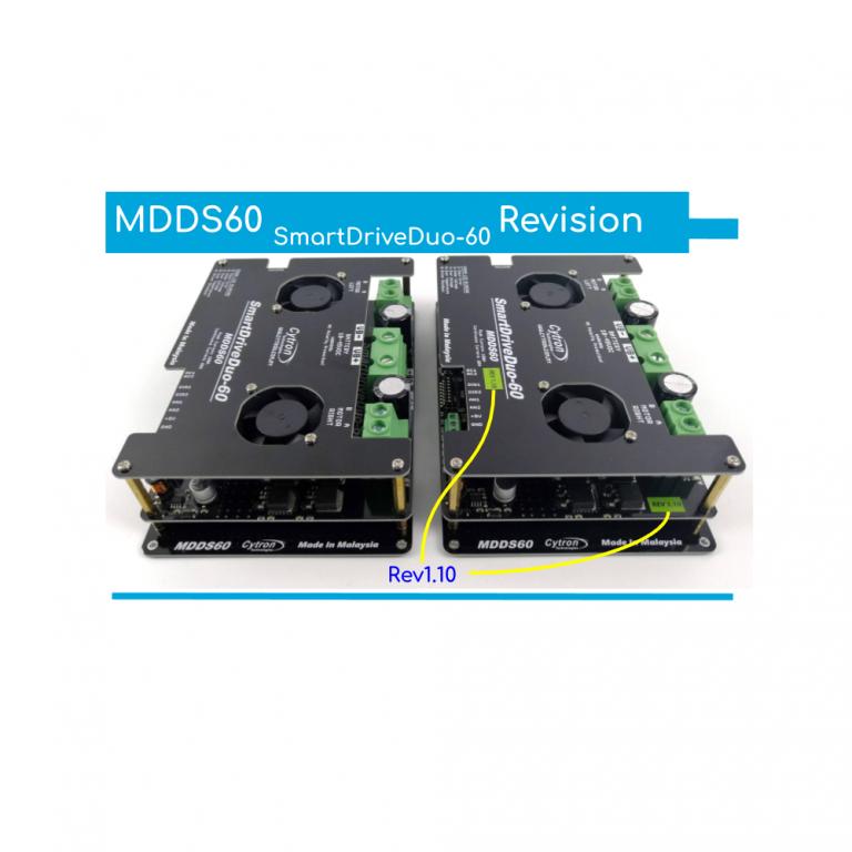 Cytron SmartDriveDuo-60 MDDS60 60A (100A peak) Rev 1.10