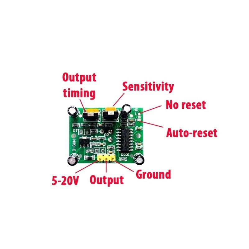 PIR Motion Sensor Detector Module HC-SR501