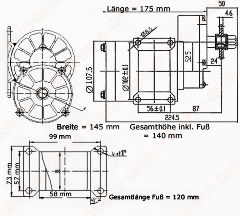 Ebike MY1020Z 600W 36V 3200RPM DC Motor (GB)