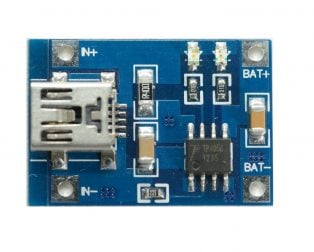 TP4056 1A Li-ion lithium Battery Charging Module – Mini USB (Robu.in)