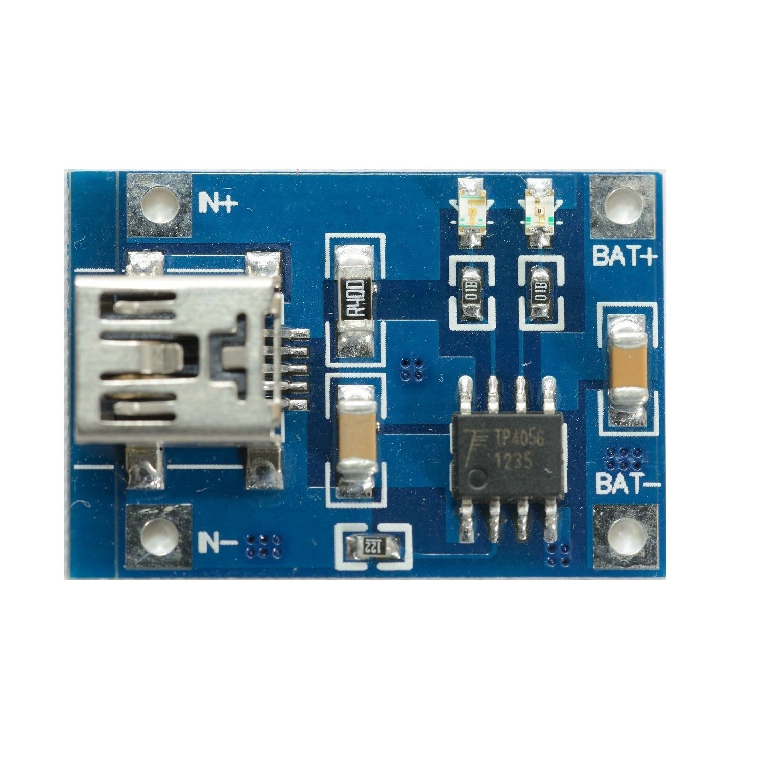 Tp4056 1a Li Ion Lithium Battery Charging Module Mini Usb Robu All About Hobby Charger Schematic Diagram Hover To Zoom