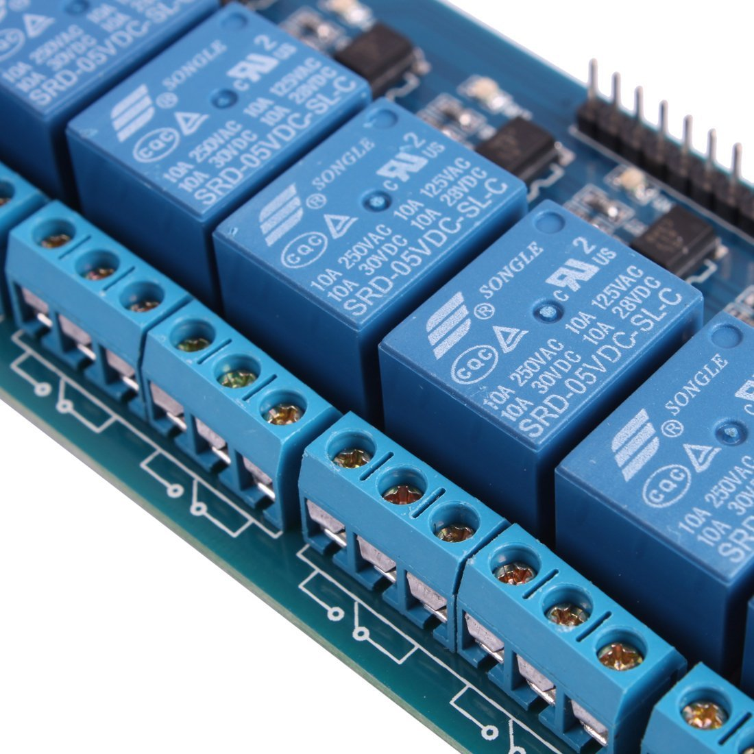 8 Channel Isolated 5V 10A Relay Module Opto-coupler