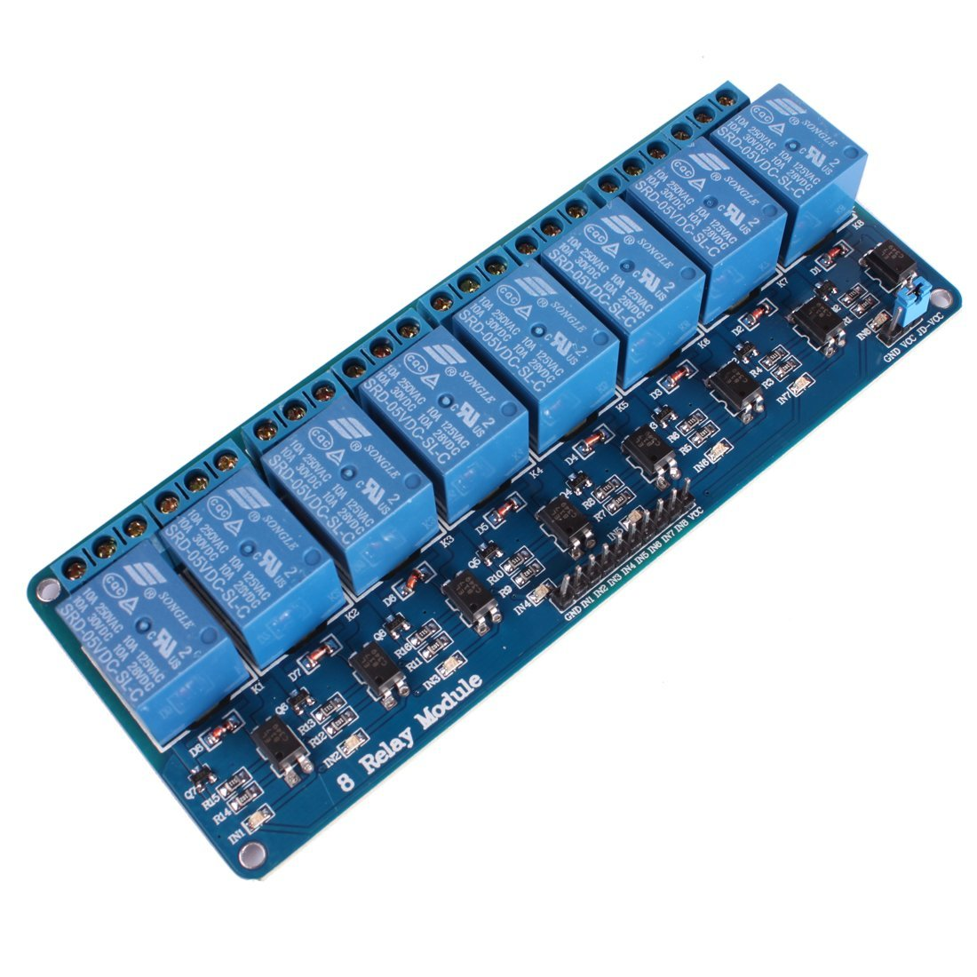 8 Channel Isolated 5V 10A Relay