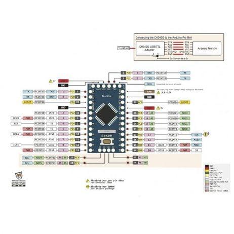 Pro Mini ATMEGA328P 5V/16M (Official Version)