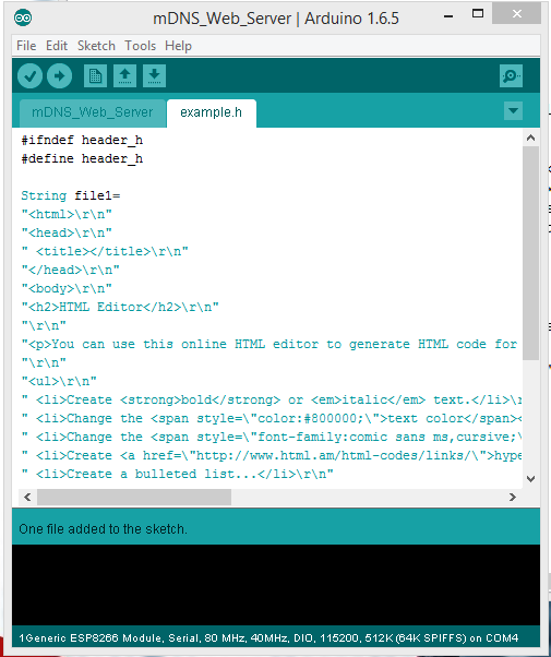 ESP8266 Tutorial Part III – Customise Your Web Server with