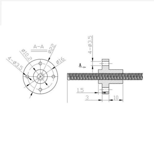 300mm Trapezoidal 4 Start Lead Screw 8mm Thread 2mm Pitch Lead Screw with  Copper Nut - Robu in | Indian Online Store | RC Hobby | Robotics