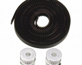 2 meter x GT2 Timing Belt + 2pcs x GT2 pulley ( 20 teeth )