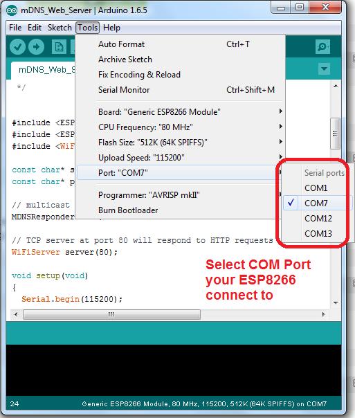 ESP8266 Tutorial Part II – ESP8266 Hello Web Server with Arduino IDE
