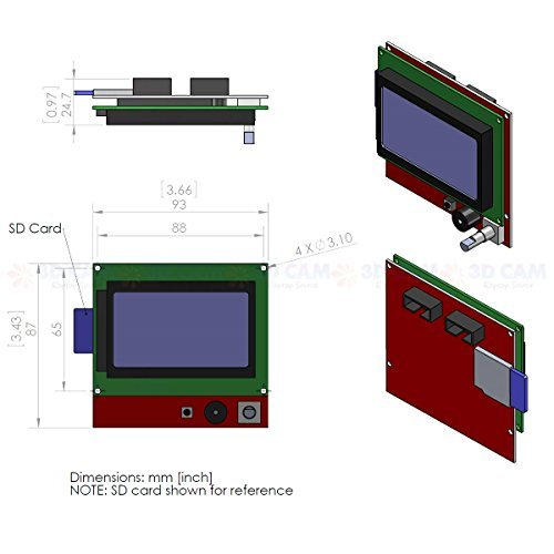 LCD 12864 (128x64) Graphic Green Color BackLight LCD Display module
