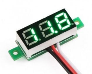 0.28inch 0-100V Three Wire DC Voltmeter Green