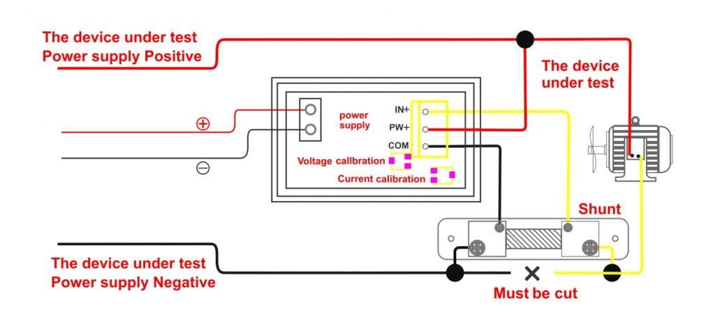 Digital Dual DC 100V 100A Voltmeter Ammeter