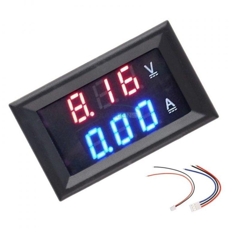 """0.28"""" 5 Wires Red Led Digital Dual DC 100V 100A Voltmeter Ammeter"""