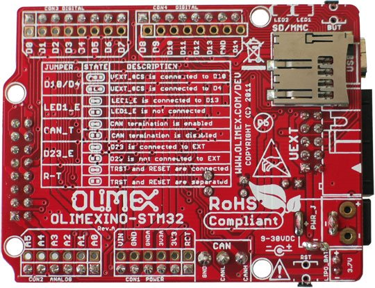 Olimex OLIMEXINO-STM32 ARDUINO/MAPLE like Board with STM32F103RBT60 -  Robu in | Indian Online Store | RC Hobby | Robotics