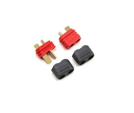 T Style Male-Female Connector Pair with Insulating Caps (1 pair)