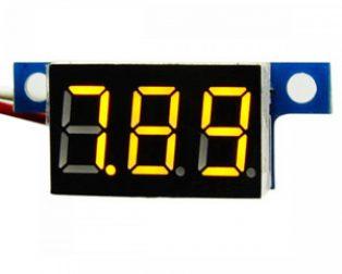 DC 3-30V 3 Wire Yellow LED Display Digital Voltage Voltmeter Panel