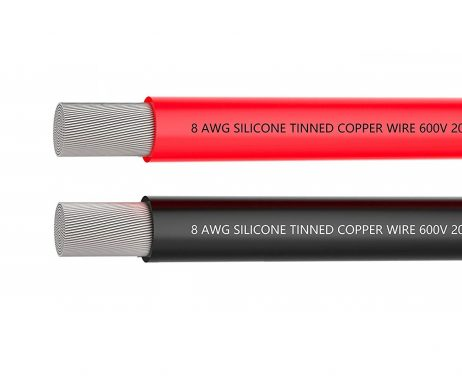 High Quality 8AWG Silicone Wire 0.5m (Red)