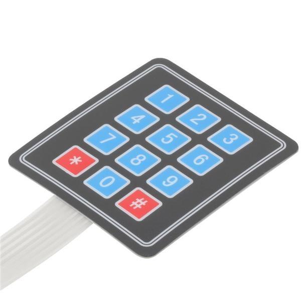 4x3 Matrix 12 keys Membrane Switch Keypad