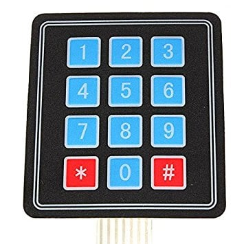 4x3 Matrix 12 keys Membrane Switch Keypad