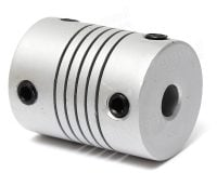 Aluminium Flexible Shaft Coupling 5mm x 5mm
