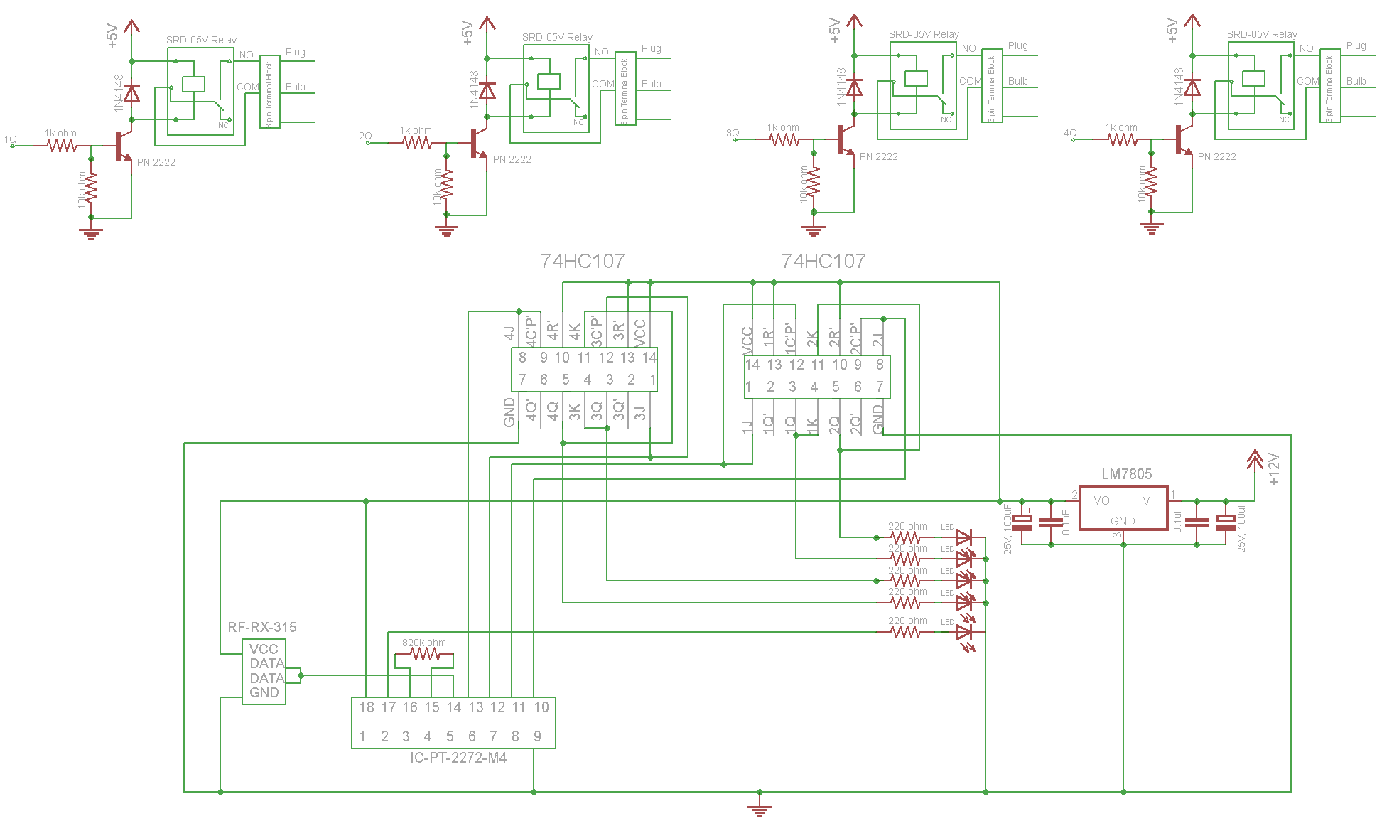 Pt2262 Transmitter Wiring Diagram Trusted Schematics Wireless Testing A Pt2262based Remote Control Element14 315mhz By Using Rf Encoder And Decoder