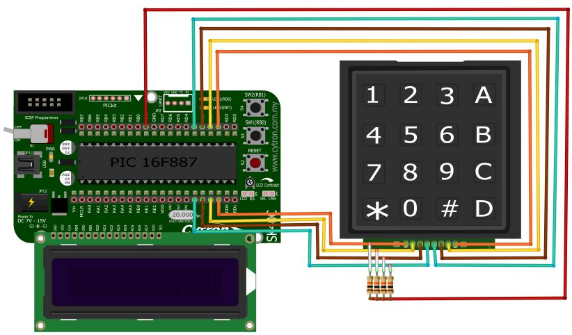 Project 17 – Interface with 4×4 keypad and 2×16 LCD - Robu