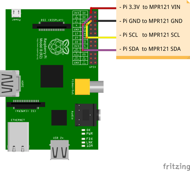 MPR121 Capacitive Touch Sensor on Raspberry Pi & BeagleBone