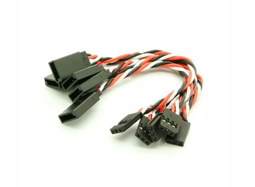 10cm Futaba 22AWG Twisted Extension Wire M to F -2pcs