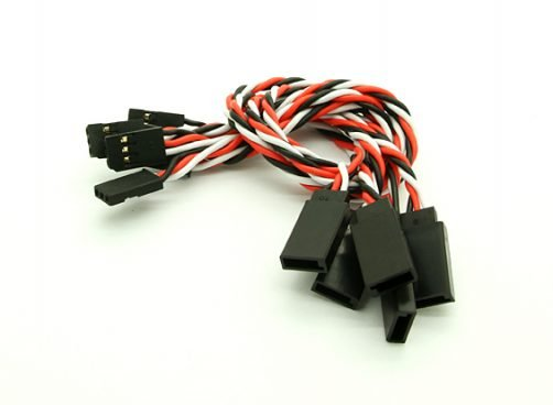 20cm Futaba 22AWG Twisted Extension Wire M to F - 2pcs