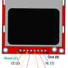 Nokia 5110 LCD Display Module - Red