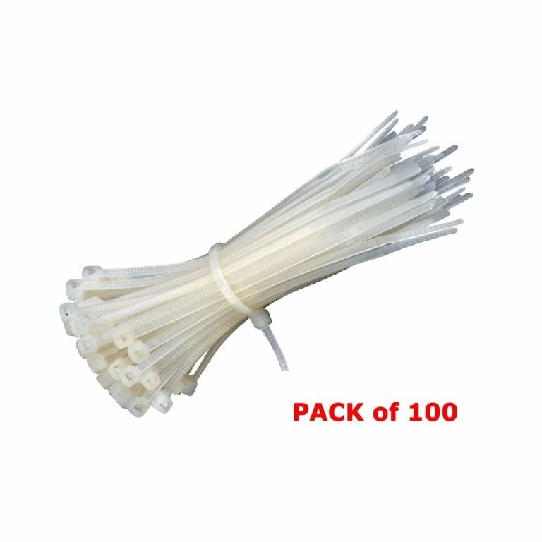 Plastic Ties 150 mm White (100pcs)