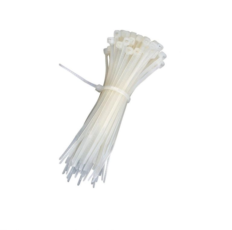Plastic Ties 250 Mm White (100pcs)