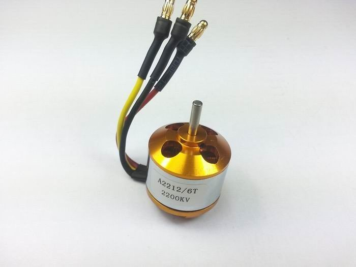 A2212/10T/13T 2200KV Brushless Motor With Soldered Connector