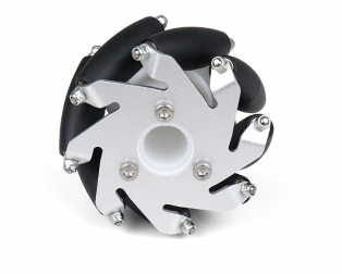 60mm Aluminum LEGO Compatible Mecanum Bearing Rollers Wheel-LEFT