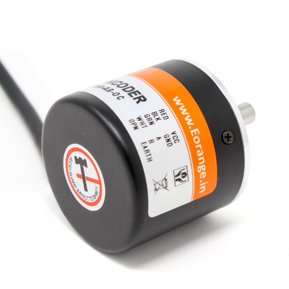 Orange 600 PPR 2-Phase Incremental Optical Rotary Encoder