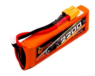 Orange 2200mAh 2S 30C/60C Lithium polymer battery Pack (LiPo)