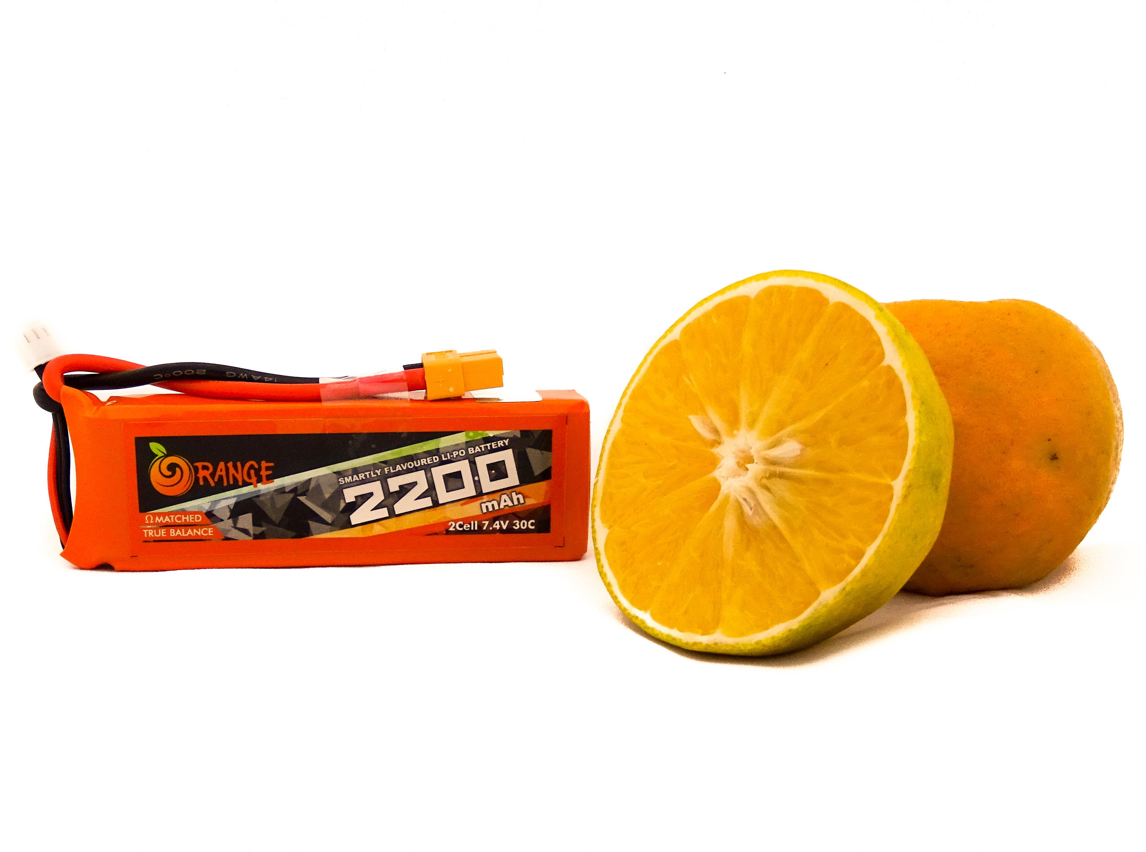 Orange 2200mAh 2S 30C/60C Lithium polymer battery Pack (LiPo)