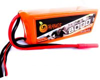 Orange 8000mAh 6S 25C/50C Lithium polymer battery Pack (LiPo)