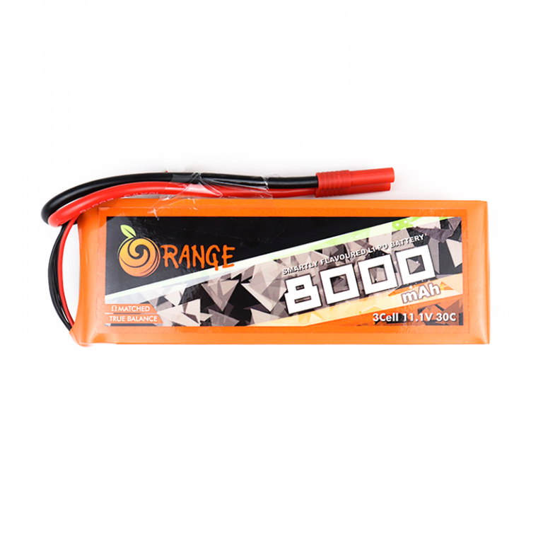 Orange 8000mAh 3S 30C/60C Lithium polymer battery Pack (LiPo)
