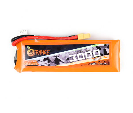Orange 3000mAh 3S 30C/60C Lithium polymer battery Pack (LiPo)