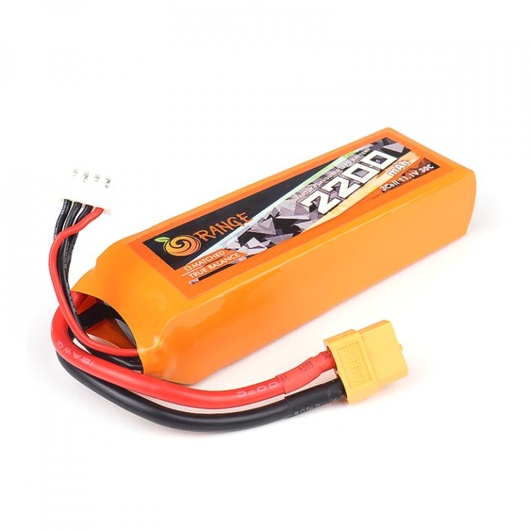 Orange 2200mAh 3S 30C/60C Lithium polymer battery Pack (LiPo)