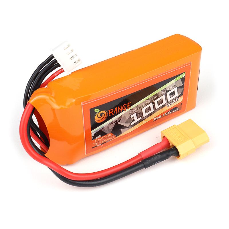 Orange 1000mAh 3S 30C/60C Lithium polymer battery Pack (LiPo)